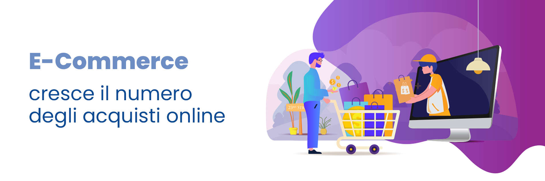 E-Commerce: The number of online purchases increases