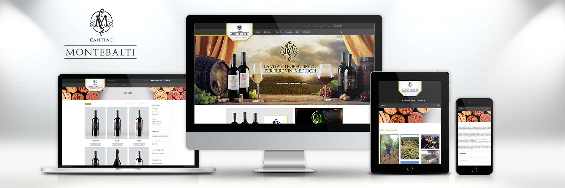 Cantine Montebalti: comunicazione integrata dal logo allo store on-line