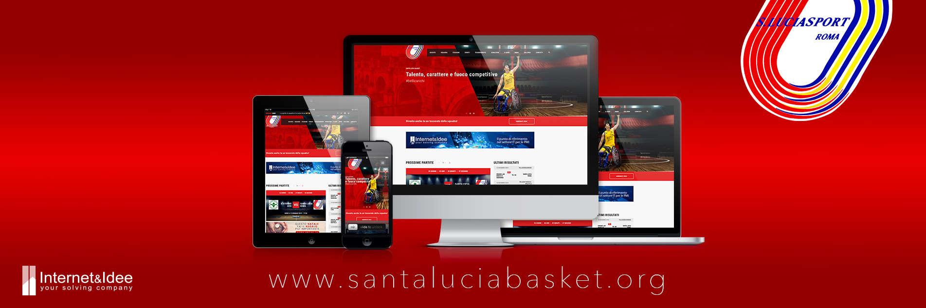Pubblicato il nuovo sito della società sportiva Santa Lucia Basket