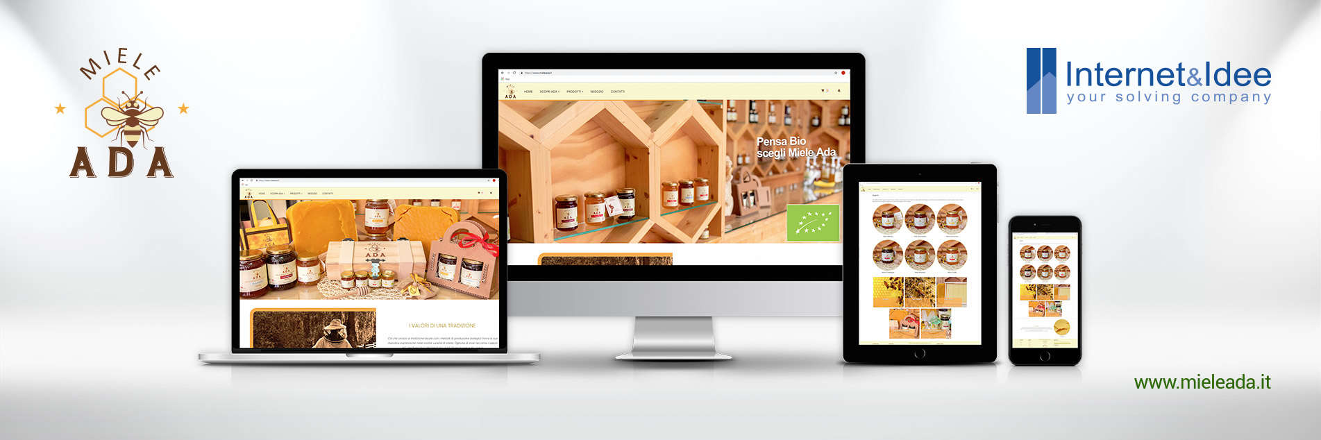 Miele Ada's new e-commerce has been published | Online sales of organic honey
