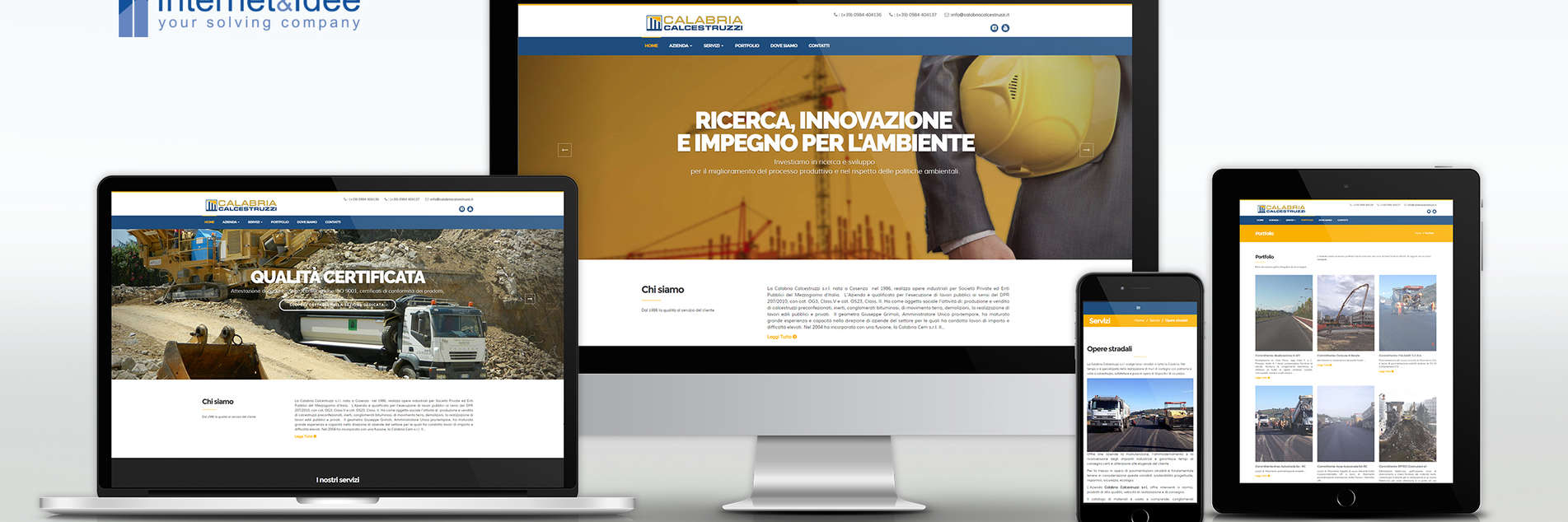 Online the Calabria Calcestruzzi site