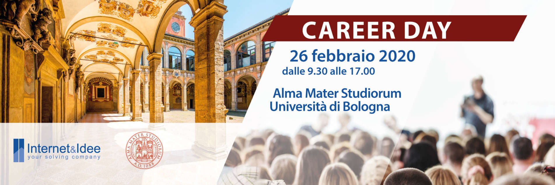 Internet & Idee al Career Day 2020 dell'Università di Bologna